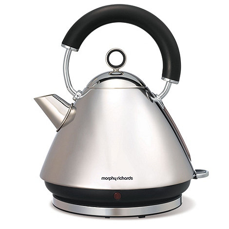 Morphy Richards - Polished stainless steel accents traditional kettle 43825