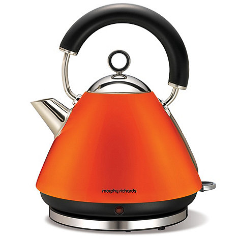 Morphy Richards - Matte orange accents traditional kettle 43828