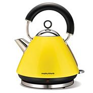 Morphy Richards yellow accents traditional kettle 43827