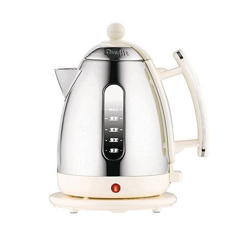 Dualit - Canvas white +72413+ hinged lid jug kettle