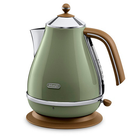 DeLonghi - Green +KBOV3001G+ Vintage Icona jug kettle