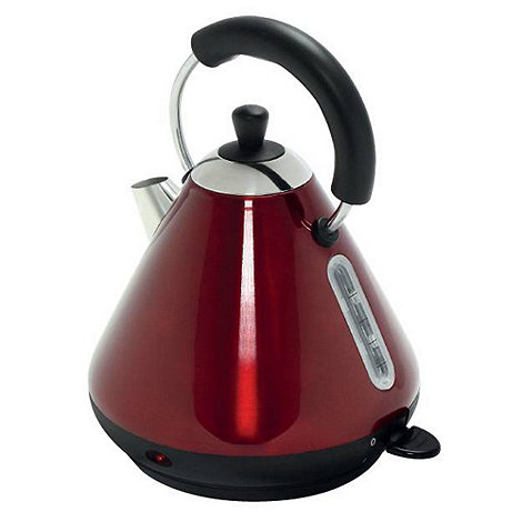 Debenhams - Red +DEB52619+ Pyramid kettle