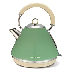 Morphy Richards - Sage Green 'Accents' retro traditional kettle 102011
