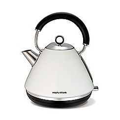 Morphy Richards - White 'Accents' traditional kettle 102005