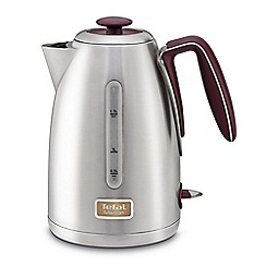 Tefal - Maison pomegranate red & stainless steel kettle KI2605UK