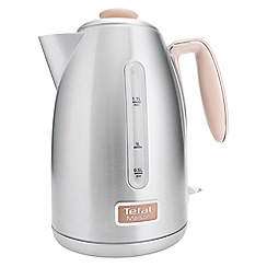 Tefal - Maison oatmeal grey & stainless steel kettle KI260AUK