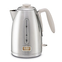 Tefal - Maison Oatmeal Grey & Stainless Steel Kettle KI260AUK