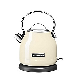 KitchenAid - Cream 1.25L traditional dome kettle 5KEK1222BAC