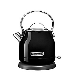 KitchenAid - Black 1.25L traditional dome kettle 5KEK1222BOB