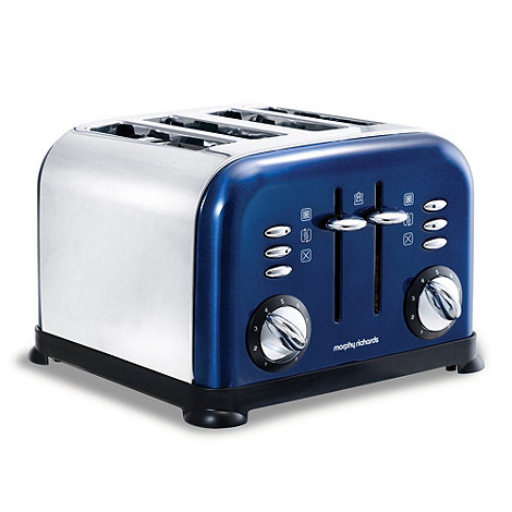 Morphy Richards - Blue accents four slice toaster - 44730