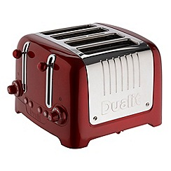 Dualit - Red metallic lite 4 slice toaster