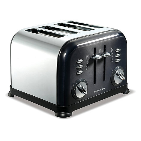 Morphy Richards - Black +Accents+ 4 slice toaster44733