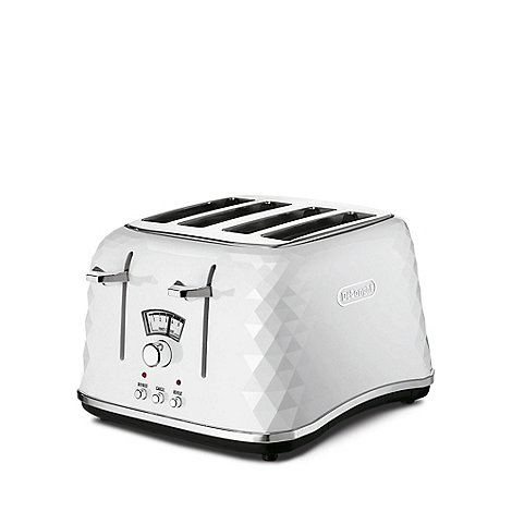 DeLonghi - White Brillante 4 slice toaster CTJ4003