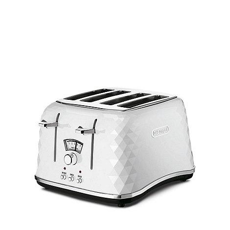 DeLonghi - White Brillante 4 slice toaster CTJ4003
