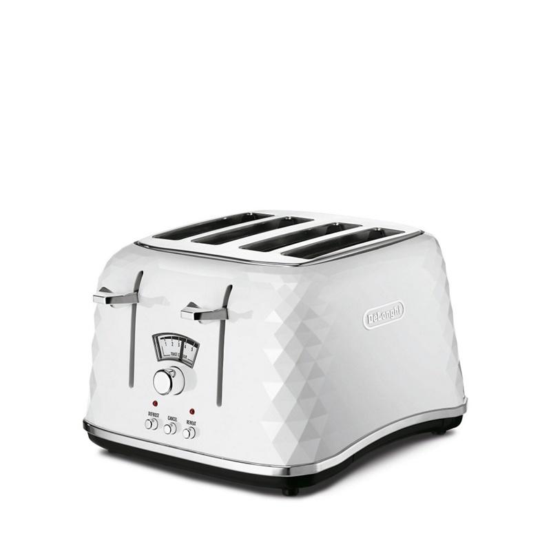 DeLonghi White Brillante 4 slice toaster CTJ4003.W - . - Toasters