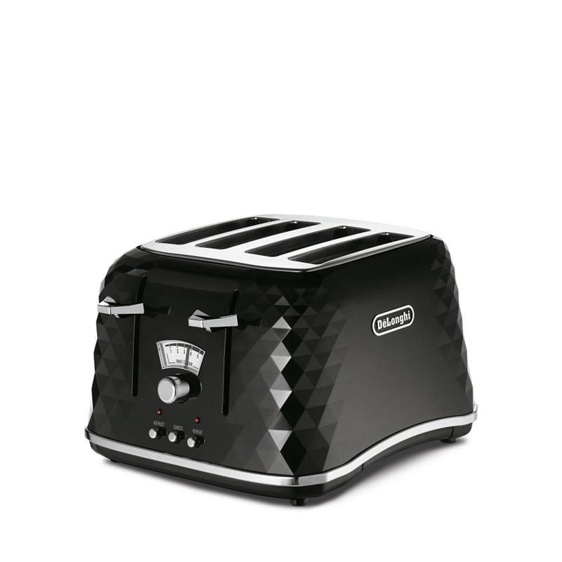 DeLonghi Black Brillante 4 slice toaster CTJ4003.BK - . - Toasters