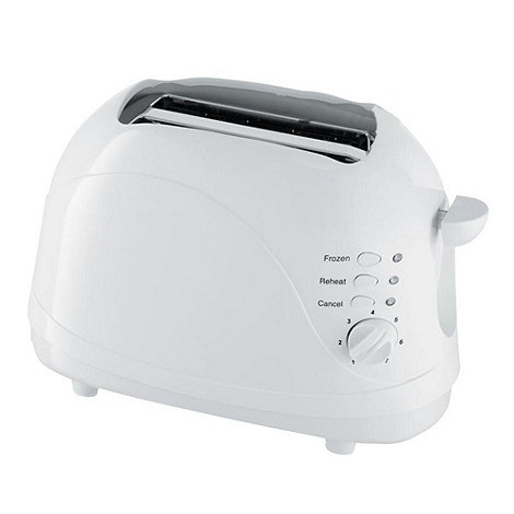 Debenhams - White two slice toaster TT3WH2