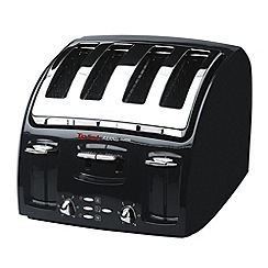Tefal - Black 'Avanti' four slice toaster 532718