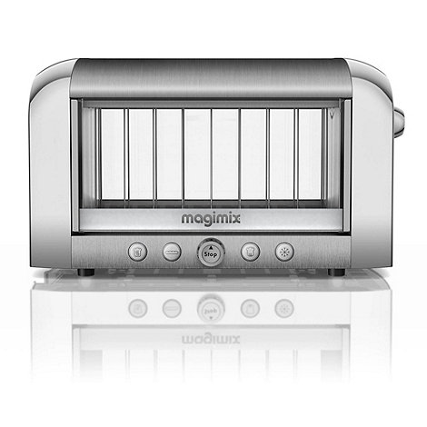 Magimix - 2 slice brushed silver Glass +Vision 11526+ professional toaster