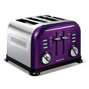 Purple 'Accents' four slice toaster 44737