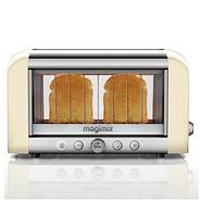 2 slice cream and silver Glass 'Vision 11527' professional toaster