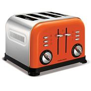 Morphy Richards orange accents four slice toaster 44798