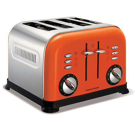 Morphy Richards - Orange accents four slice toaster 44798