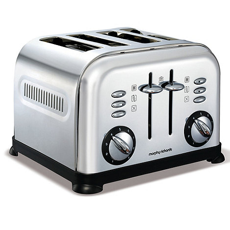 Morphy Richards - Polished stainless steel accents four slice toaster 44039