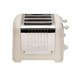 Dualit - Canvas white lite 4 slice toaster, 46213
