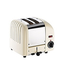 Dualit - White canvas '20402' vario 2 slice toaster