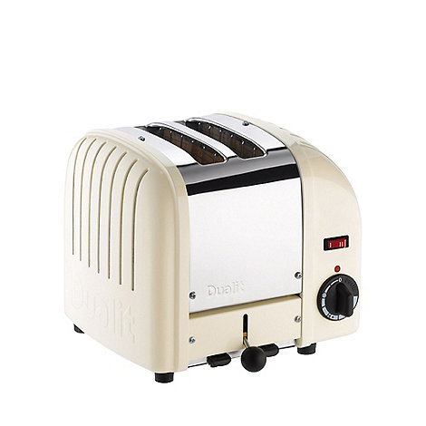 Dualit - White canvas +20402+ vario 2 slice toaster