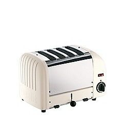 Dualit - White canvas '40513' vario 4 slice toaster