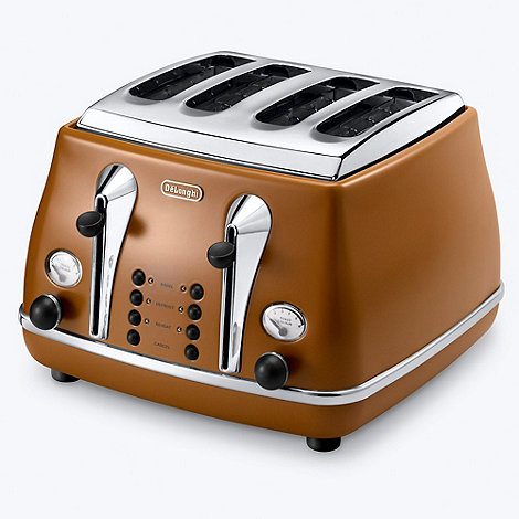 DeLonghi - Brown CTOV4003.BW Vintage Icona 4 slice toaster
