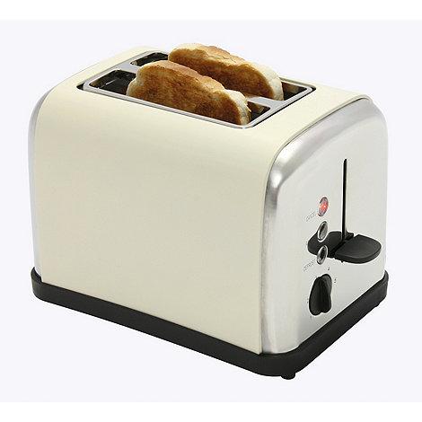 Debenhams - Cream +DEB52619+ two slice toaster