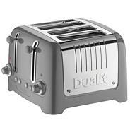 Matte titanium '46217' four slice toaster