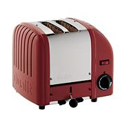 Dualit red 'Vario' two slice toaster