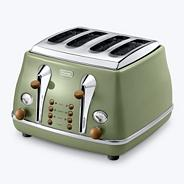 Green CTOV4003GR Vintage Icona 4 slice toaster