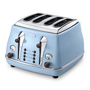 Delonghi CTOV4003AZ blue Vintage Icona 4 slice toaster