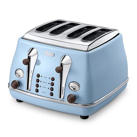 DeLonghi - Blue CTOV4003AZ Vintage Icona 4 slice toaster