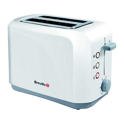 Breville - White 2 slice toaster VTT222