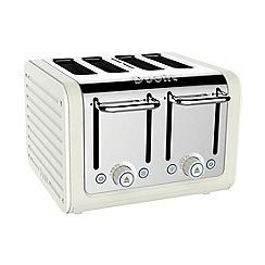 Dualit - Cream canvas 4 slice toaster 46513 - Exclusive to Debenhams