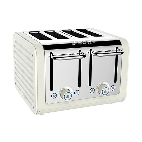 Dualit - Cream canvas 4 slice toaster 46513 - Exclusive to Debenhams