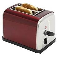 Debenhams 'TT4RED2' red two slice toaster