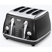 Delonghi CTOV4003.BK1 black 'Vintage Icona' four slice toaster