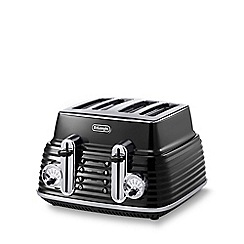 DeLonghi - Black 'Scultura' CTZ4003.BK four slice toaster