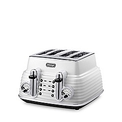 DeLonghi - White 'Scultura' CTZ4003.W four slice toaster