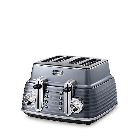 DeLonghi - Gunmetal +Scultura+ CTZ4003.GY four slice toaster