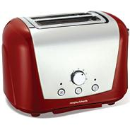 Morphy Richards 'Accents' 2222254 red two-slice toaster