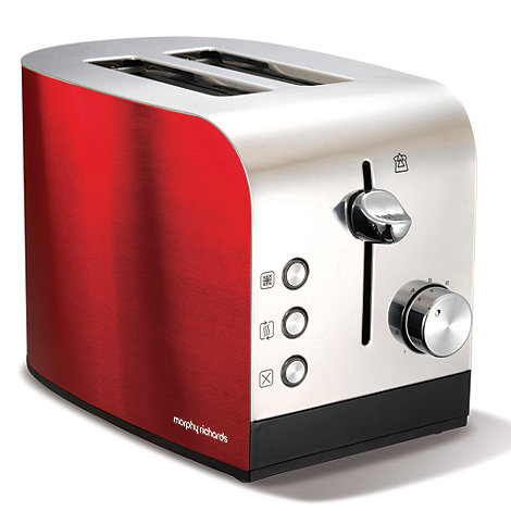 Morphy Richards - Red 'Accents' 44205 two-slice toaster