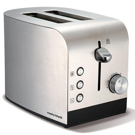Morphy Richards - Brushed stainless steel +44208+ two-slice toaster